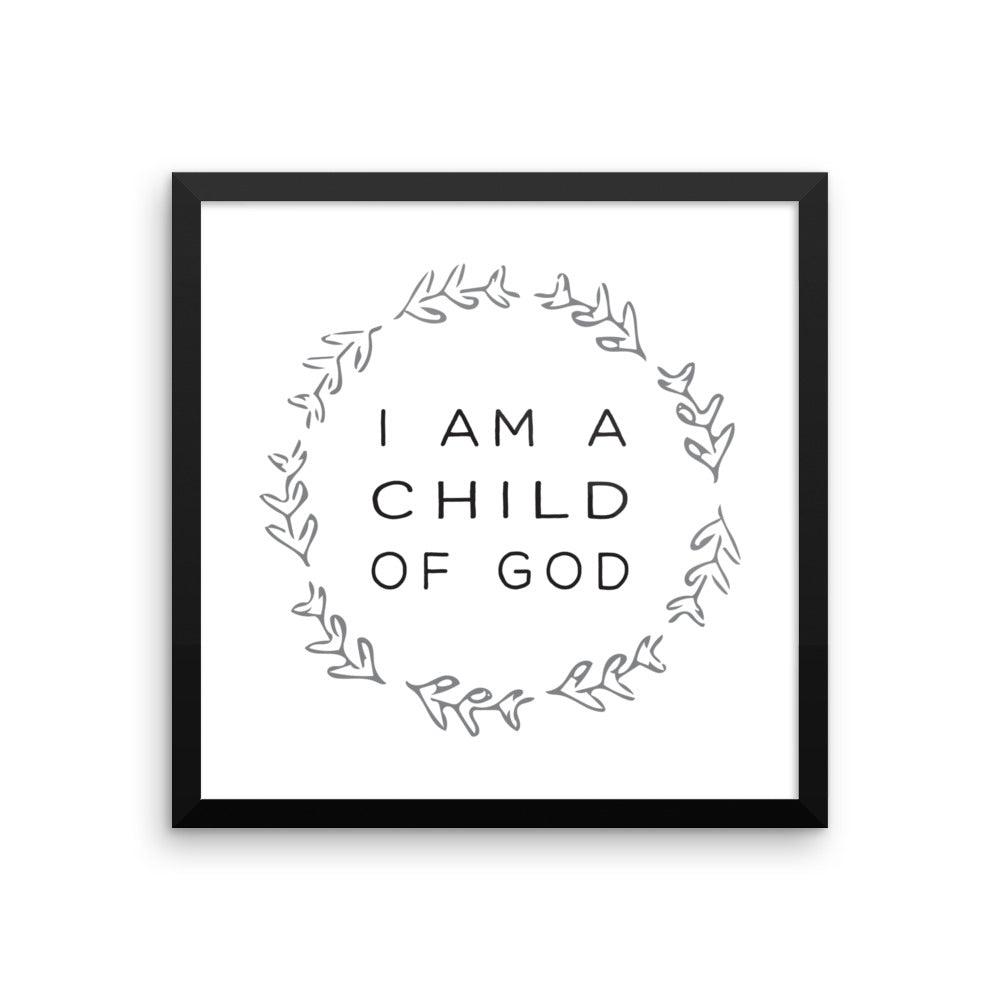 Galatians 3:26 Bible Verse Nursery Art by Chickadee Art and Company