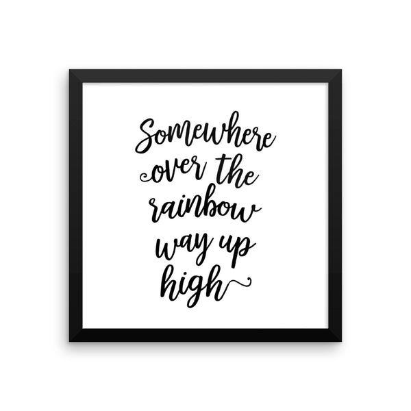 Somewhere Over the Rainbow Framed Nursery Art