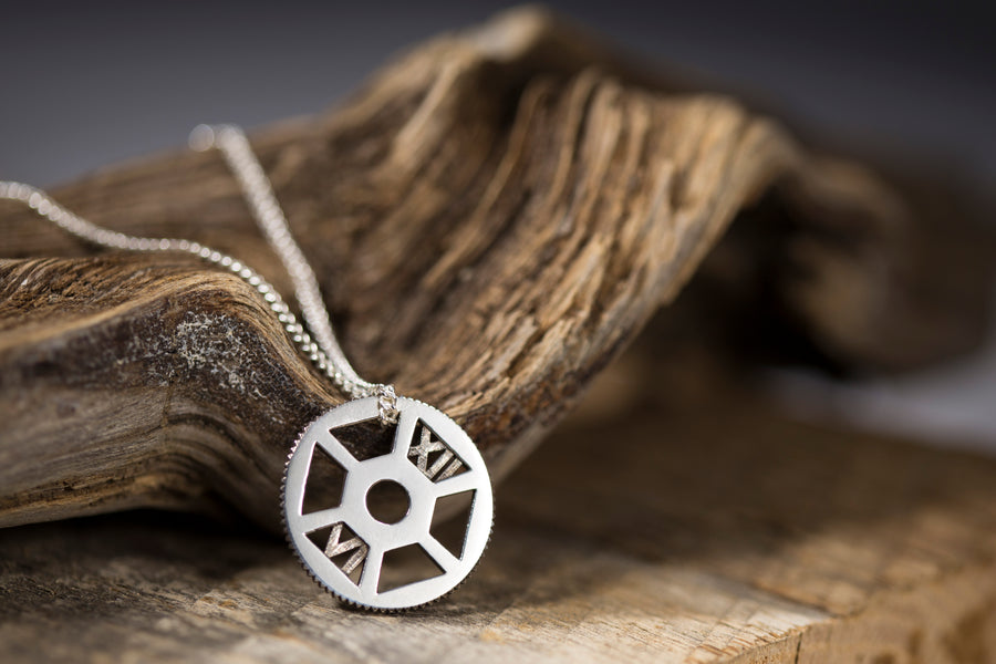 Be Here Now (Clock Gear) Necklace