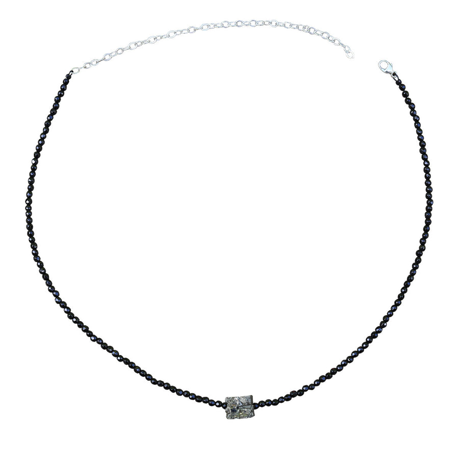 Black Spinel & Pyrite Choker