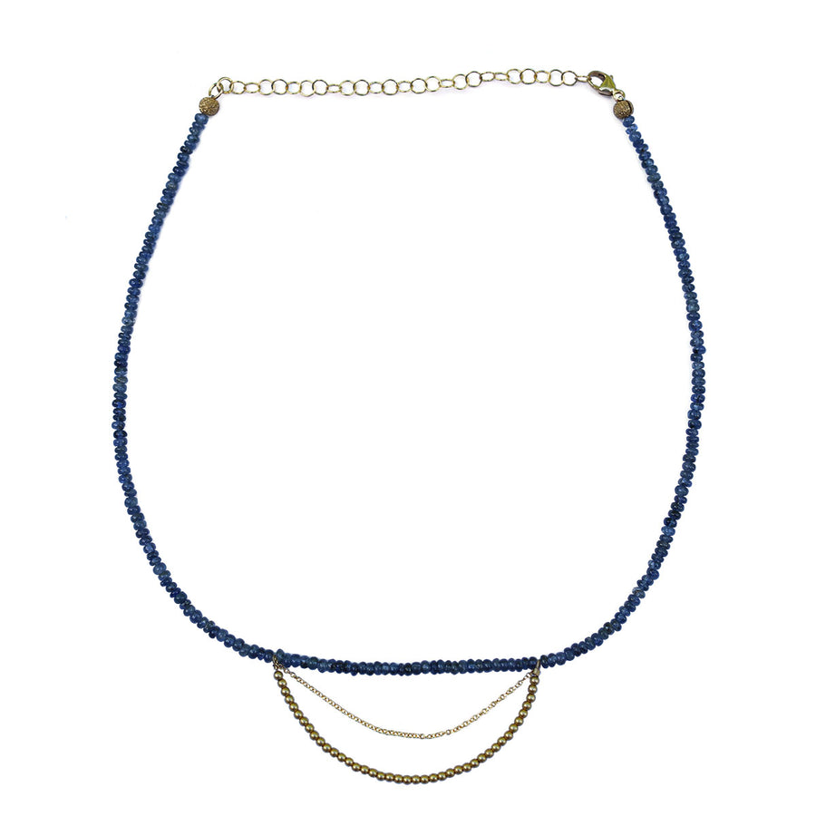 Blue Sapphire Gold Necklace