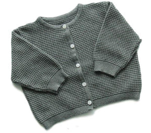 0fad32ffe Ponchik Cotton Waffle Knitted Cardigan - Charcoal – Hunter Interiors