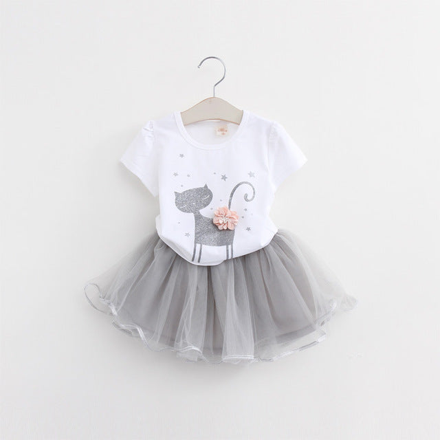 Two-Piece Kitty Cat Tutu Set