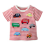 Striped Car Tee
