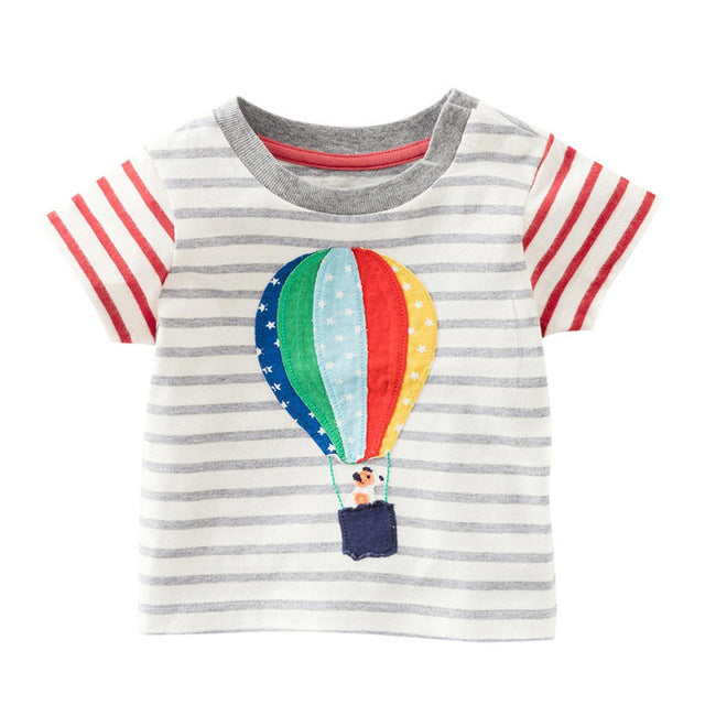 Striped Hot Air Balloon Tee