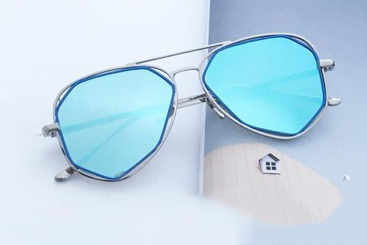 Geometric Shaped Sunglasses - Multiple Colors