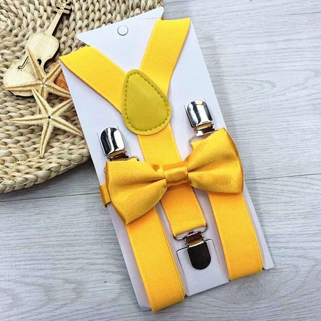 Bow Tie & Suspenders - Multiple Colors