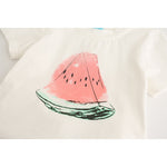 Watermelon Print Two-Piece Outfit