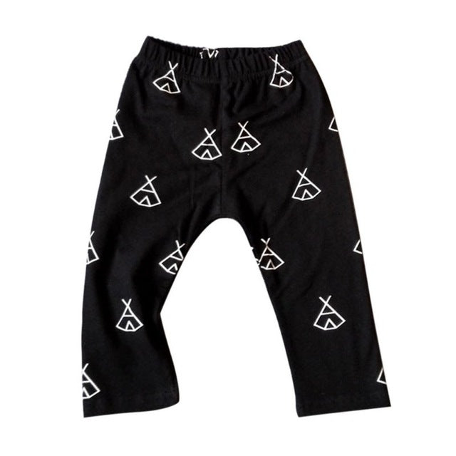 Teepee Print Cotton Leggings