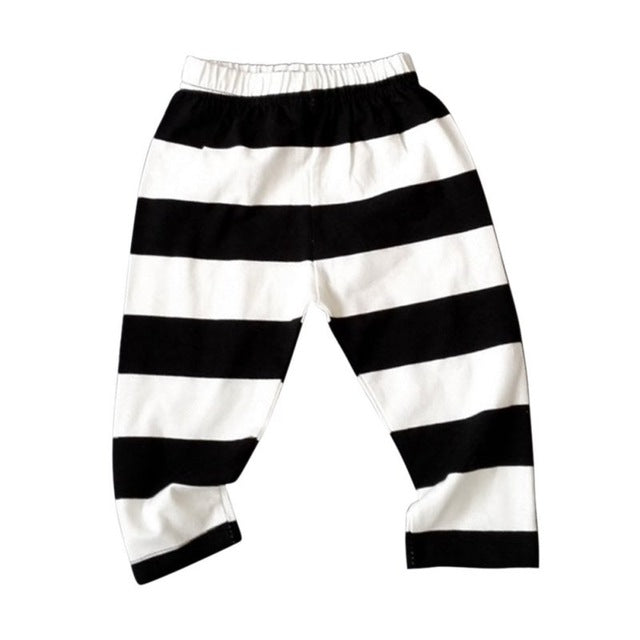 Striped Cotton Leggings