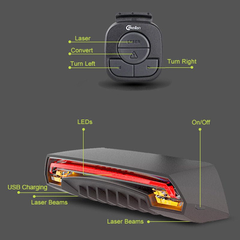 Rechargeable Bike Laser Light