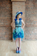 Bespoke Hive Brain collection - Made to Order Kandi beaded Mesh and Chiffon Formal Dress