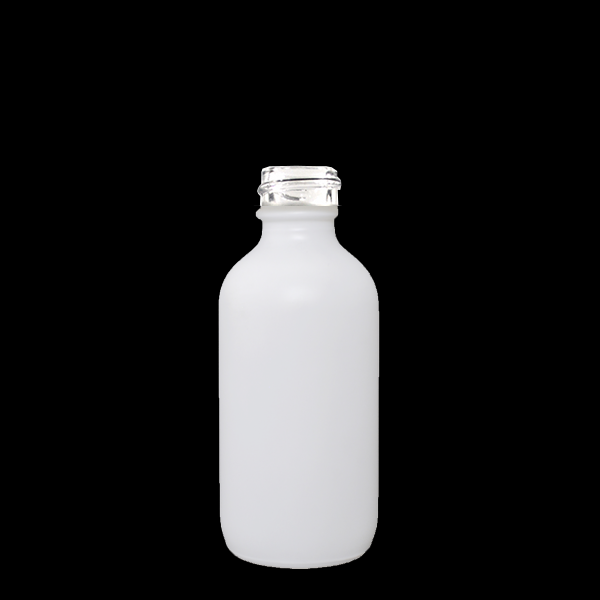 Boston Round Bottle - 60ml Matte White