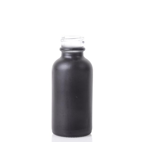 Boston Round Bottle - 30ml Matte Black