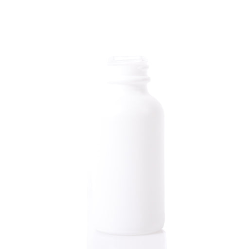 Boston Round Bottles - 30ml Matte White