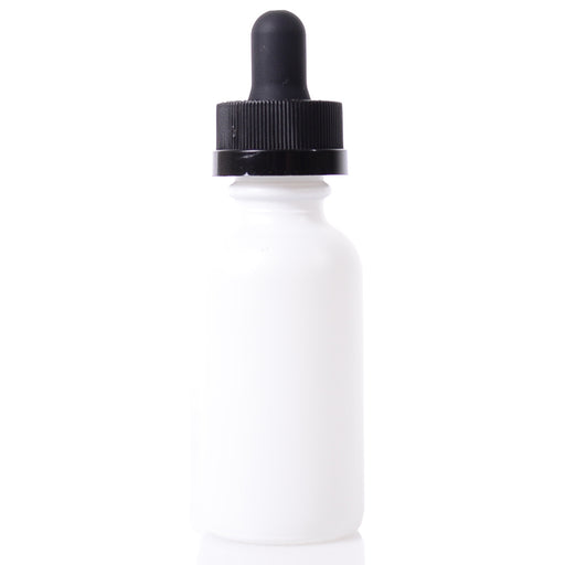 Boston Round Bottle - 30ml Matte White