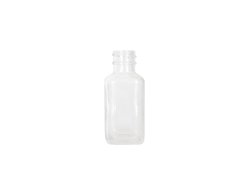 French Square Bottle - 30ml Clear
