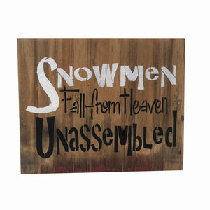 Snowmen Fall From Heaven Unassembled