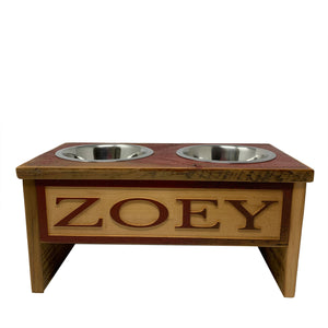 Engraved Stainless Steel Dog Bowl Stands