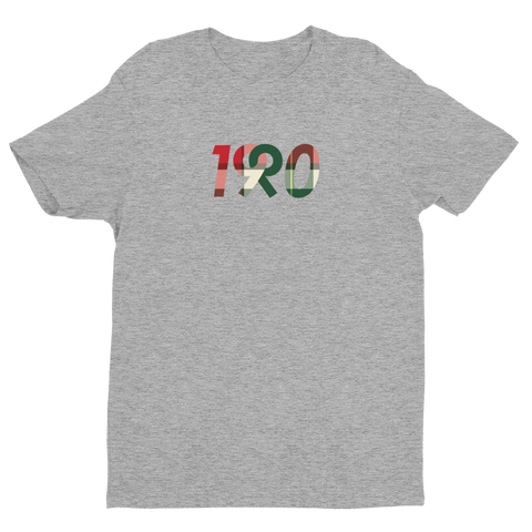 Original Logo Tee in Plaid / Grey