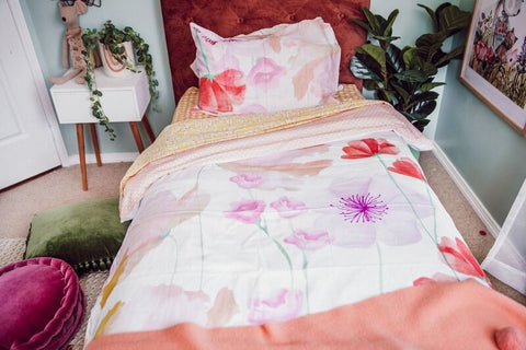 Flower Garden Single Bed Duvet Cover