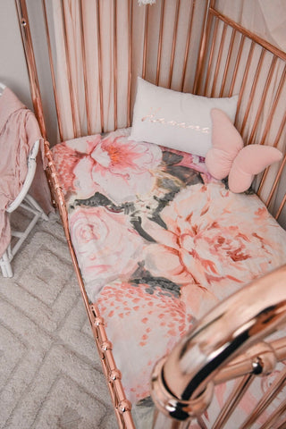 Peony COT SHEET - Stuck on Ivy x Savannah and Three PRE-ORDER