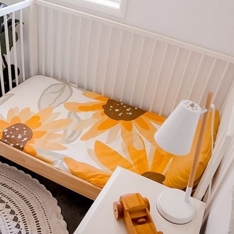 Sunflower Cot Sheet