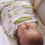 Green Leaves Muslin Swaddle