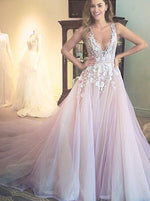 Gorgeous A-line Scoop Long Wedding Dress Dress with Appliques