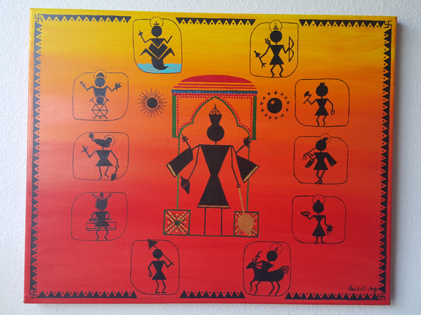 ORIGINAL HANDMADE TRADITIONAL WARLI PAINTINGS
