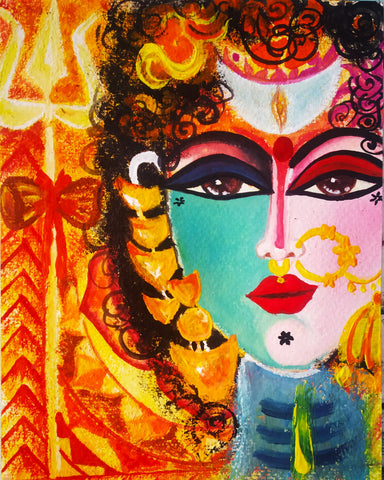 ORIGINAL HANDMADE SHIVSHAKTI PAINTING - THE THIRD EYE