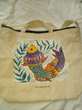 ORIGINAL HAND PAINTED MADHUBANI TOTE AND TEE COMBO