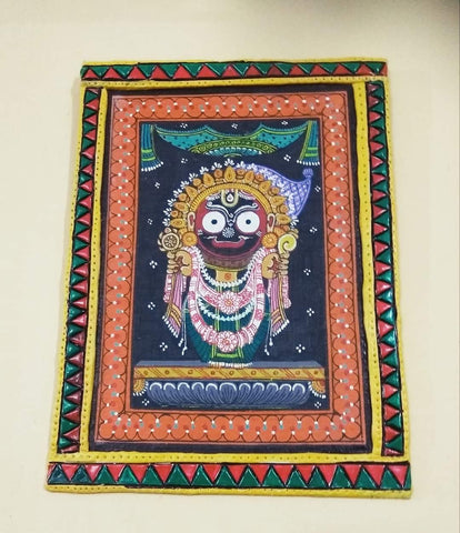 ORIGINAL HANDMADE LORD JAGANNATH PATTACHITRA PAINTING