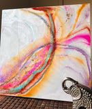 HANDMADE PRISMATIC ABSTRACT RESIN WALL ART