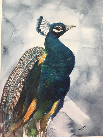 Original Handmade Peacock Painting