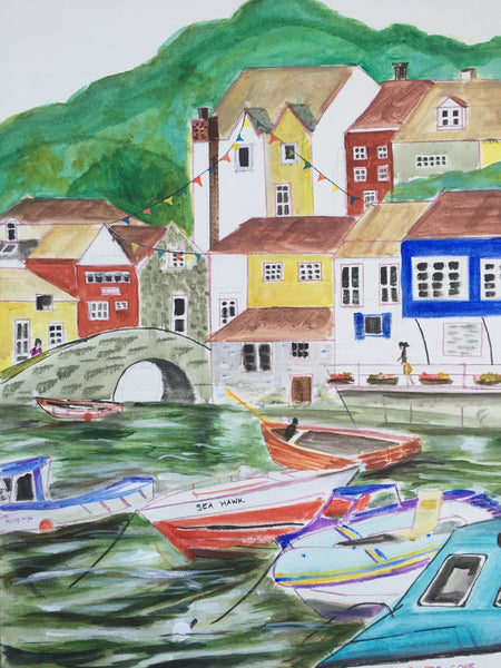 ORIGINAL HANDMADE PAINTING OF CORNWALL IN LONDON