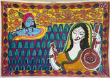 ORIGINAL HANDMADE COSMIC LOVE MADHUBANI PAINTING