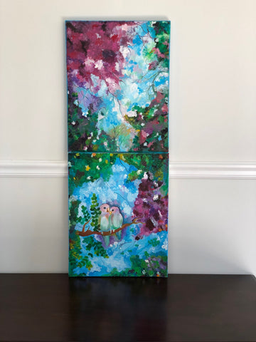 ORIGINAL HANDMADE LOVE IN THE MEADOW PAINTING