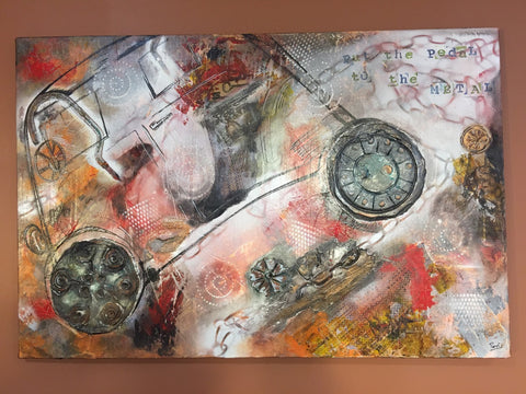 "ORIGINAL HANDMADE ""Drive Forward"" PAINTING"