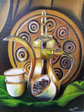 ORIGINAL HANDMADE DALLAH (Arabic Coffee Pot) PAINTING