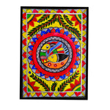 ORIGINAL HANDMADE MADHUBANI NATURE PAINTING
