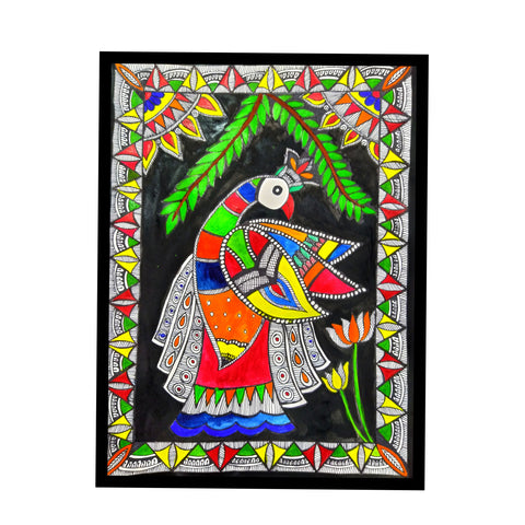 ORIGINAL HANDMADE WORLD OF MADHUBANI PAINTING