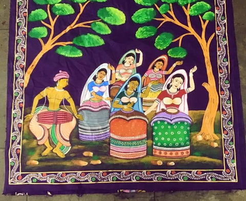 ORIGINAL HAND PAINTED MANIPURI DANCE HERITAGE SAREE