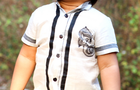 ORIGINAL HAND PAINTED MADHUBANI KIDS HERITAGE DRESS