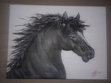 ORIGINAL HANDMADE BLACK BEAUTY PAINTING