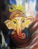 ORIGINAL HANDMADE GANESHA MULTICOLOUR PAINTING
