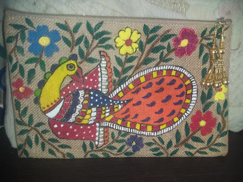 ORIGINAL HAND PAINTED MADHUBANI TOTE BAG