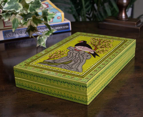 ORIGINAL KASHMIRI HAND PAINTED MULTI UTILITY BOX