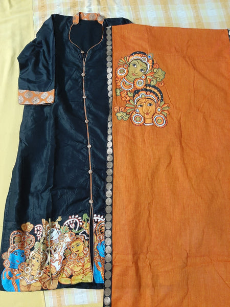 ORIGINAL HANDPAINTED KERALA MURAL HERITAGE DRESS