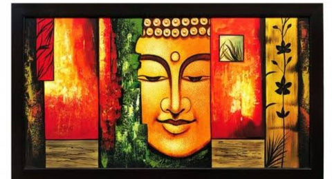 ORIGINAL HANDMADE COLORFUL BUDDHA PAINTING